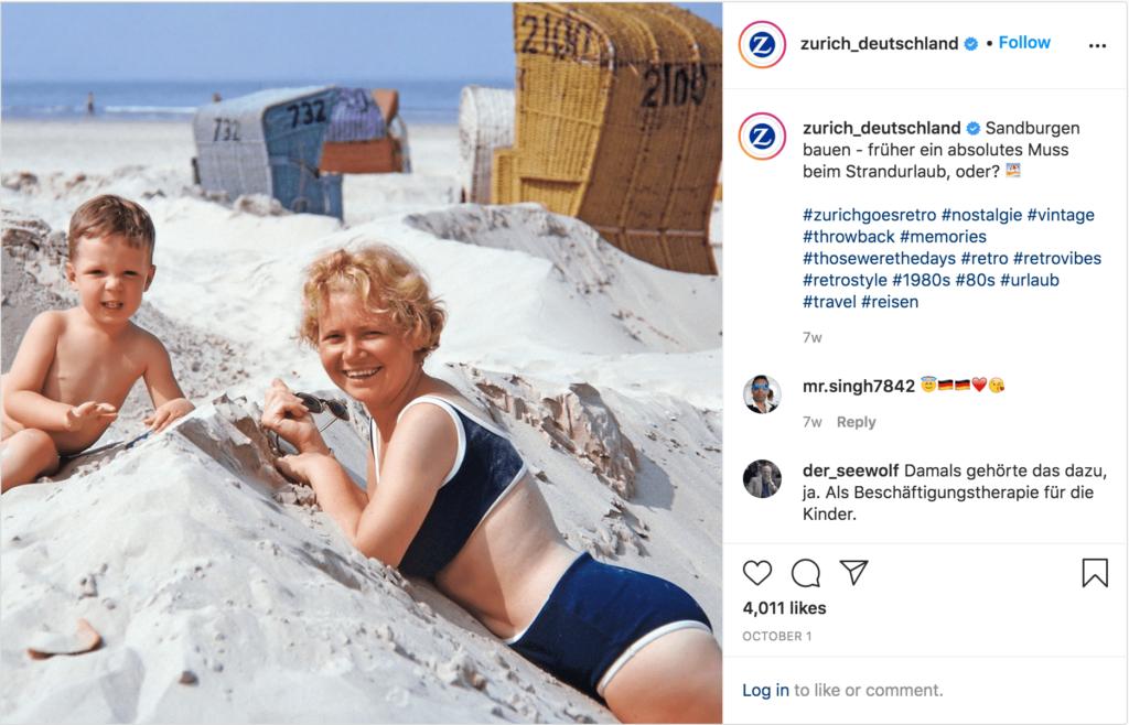 Altes Familien Bild als Beispiel für Nostalgie Marketing auf Instagram