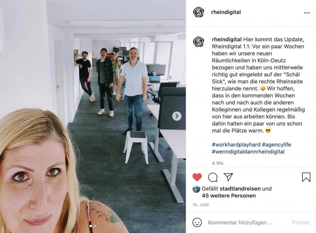 Post mit dem Team von Rheindigital im neuen Kölner Büro